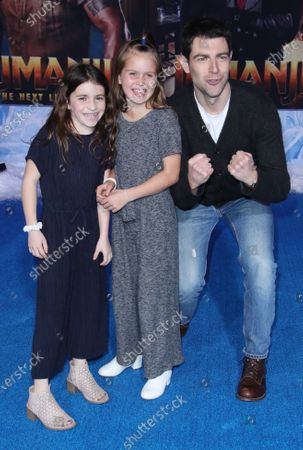 Max Greenfield with daughter (right) and friend (center)