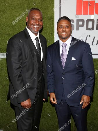 Derrick Brooks, Warrick Dunn. Derrick Brooks, left, and Warrick Dunn, right, attend the Sports Illustrated Sportsperson of the Year Awards at the Ziegfeld Ballroom, in New York