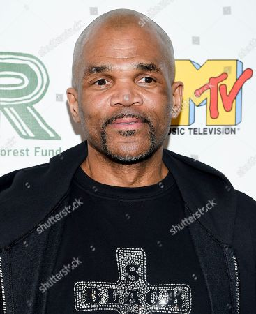 """Stock Photo of Darryl McDaniels aka """"DMC"""" arrives at the 30th anniversary Rainforest Fund Benefit Concert at the Beacon Theatre, in New York"""