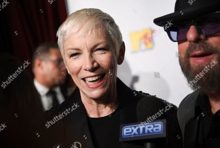 Annie Lennox arrives at the 30th anniversary Rainforest Fund Benefit Concert at the Beacon Theatre, in New York