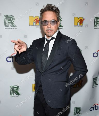 Robert Downey Jr. arrives at the 30th anniversary Rainforest Fund Benefit Concert at the Beacon Theatre, in New York