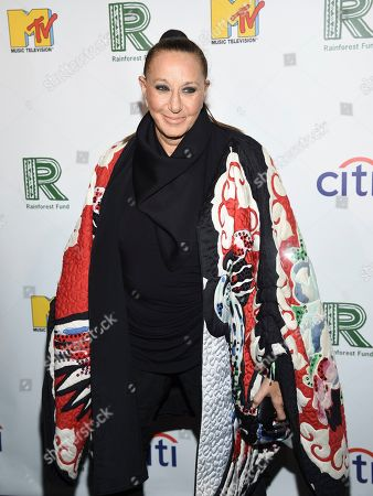 Donna Karan arrives at the 30th anniversary Rainforest Fund Benefit Concert at the Beacon Theatre, in New York