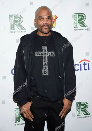 """Darryl McDaniels aka """"DMC"""" arrives at the 30th anniversary Rainforest Fund Benefit Concert at the Beacon Theatre, in New York"""