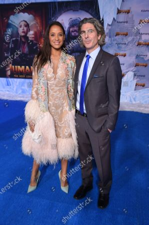Stock Photo of Dania Ramirez and Bev Land at the World Premiere of Columbia Pictures' JUMANJI: THE NEXT LEVEL at the TLC Chinese Theater.
