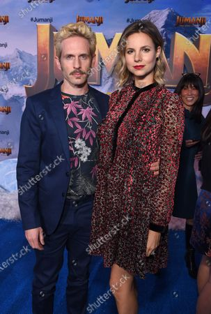 Stock Picture of Glenn Howerton and Jill Latiano at the World Premiere of Columbia Pictures' JUMANJI: THE NEXT LEVEL at the TLC Chinese Theater.