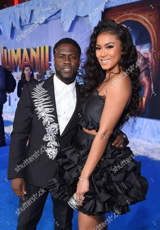Kevin Hart and Eniko Parrish at the World Premiere of Columbia Pictures' JUMANJI: THE NEXT LEVEL at the TLC Chinese Theater.