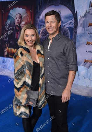 Beverley Mitchell and Michael Cameron at the World Premiere of Columbia Pictures' JUMANJI: THE NEXT LEVEL at the TLC Chinese Theater.
