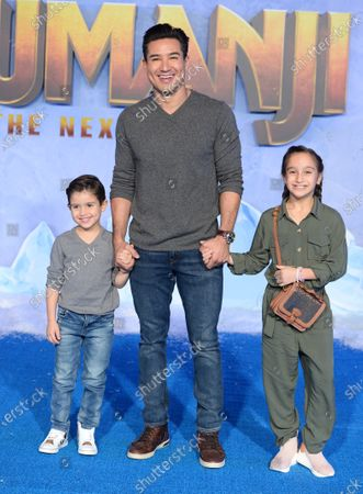 Dominic Lopez, Mario Lopez and Gia Francesca Lopez