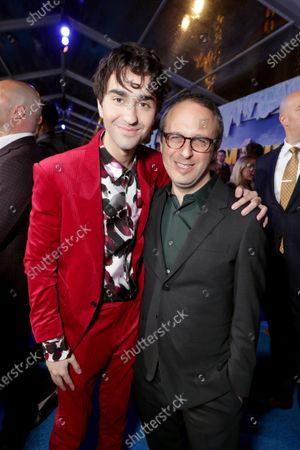 Alex Wolff and Jake Kasdan, Director/Writer/Producer, at the World Premiere of Columbia Pictures JUMANJI: THE NEXT LEVEL at the TCL Chinese Theatre.