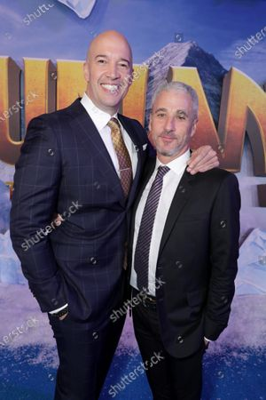 Hiram Garcia, Producer, and Matt Tolmach, Producer, at the World Premiere of Columbia Pictures JUMANJI: THE NEXT LEVEL at the TCL Chinese Theatre.