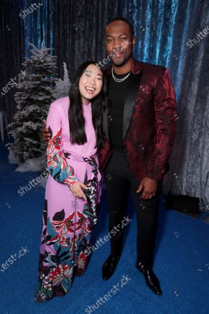 Awkwafina and Ser'Darius Blain at the World Premiere of Columbia Pictures JUMANJI: THE NEXT LEVEL at the TCL Chinese Theatre.