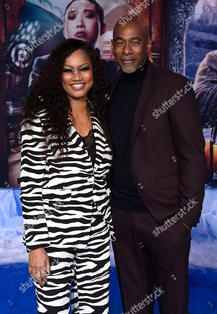 "Garcelle Beauvais, Michael Elliot. Garcelle Beauvais and Michael Elliot arrive at the Los Angeles premiere of ""Jumanji: The Next Level"" at the TCL Chinese Theatre on in Calif"