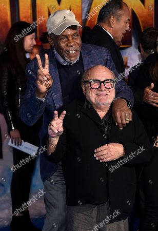 "Danny Glover, Danny DeVito. Danny Glover and Danny DeVito arrive at the Los Angeles premiere of ""Jumanji: The Next Level"" at the TCL Chinese Theatre on in Calif"