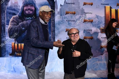 "Danny Glover, Danny DeVito. Cast members Danny Glover, left, and Danny DeVito arrive at the Los Angeles premiere of ""Jumanji: The Next Level,"" at the TCL Chinese Theatre"