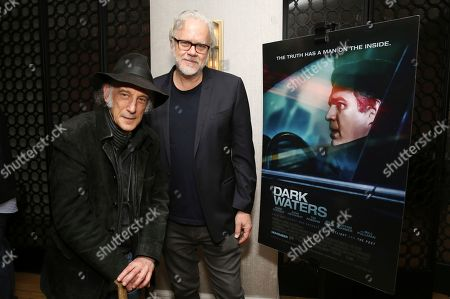 "Edward Lachman, Tim Robbins. Director of photography Edward Lachman and Tim Robbins seen at the Focus Features ""Dark Waters"" Special Screening at the London Hotel on in Los Angeles"