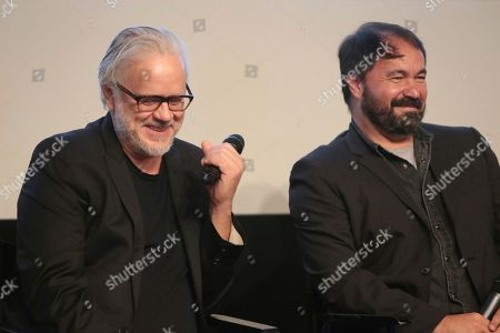 "Tim Robbins, Affonso Goncalves. Tim Robbins and editor Affonso Goncalves seen at the Focus Features ""Dark Waters"" Special Screening at the London Hotel on in Los Angeles"