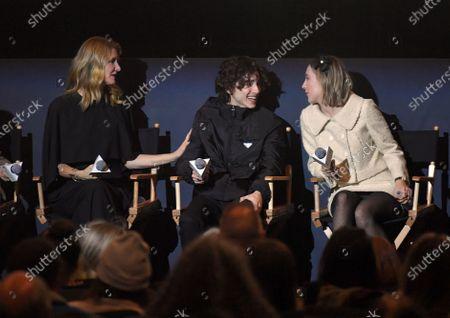Laura Dern, Timothee Chalamet, Saoirse Ronan