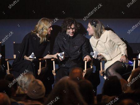 Stock Picture of Laura Dern, Timothee Chalamet, Saoirse Ronan