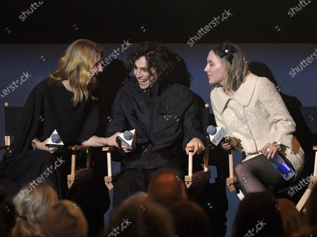 Stock Photo of Laura Dern, Timothee Chalamet, Saoirse Ronan