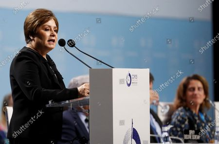 Mexican Patricia Espinosa, United Nations Framework Convention on Climate Change (UNFCCC) Executive Secretary, delivers a speech during the opening of high level segment of the COP25 UN Climate Change Conference in Madrid, Spain, 10 December 2019. The summit runs in the Spanish capital until next 13 December.