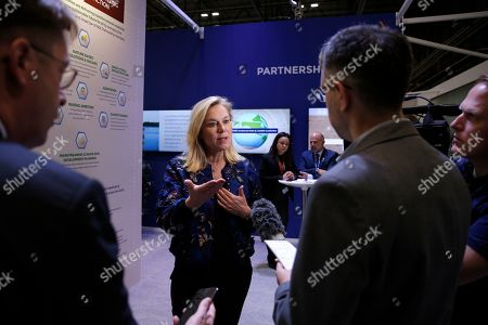 Dutch Minister for Foreign Trade and Development Cooperation Sigrid Kaag speaks during an interview with The Associated Press in Madrid, Spain,. A global U.N.sponsored climate change conference is taking place in Madrid