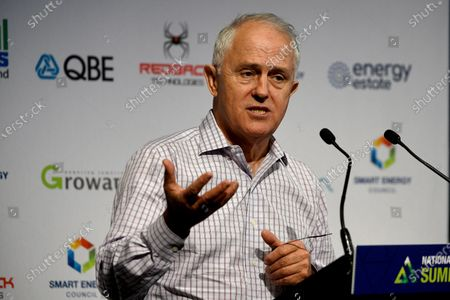 Australian former prime minister Malcolm Turnbull speaks during the National Smart Energy Summit at the Hilton Hotel in Sydney, New South Wales, Australia, 10 December 2019.