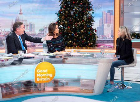 Piers Morgan and Susanna Reid with Leslie Ash