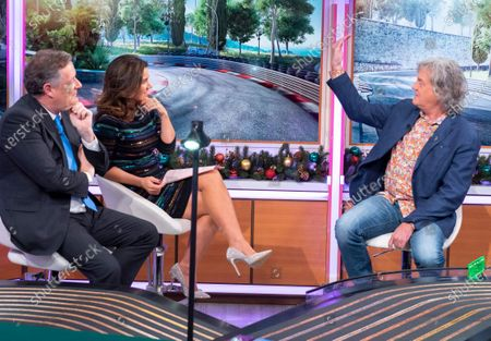 Stock Photo of Piers Morgan and Susanna Reid with James May
