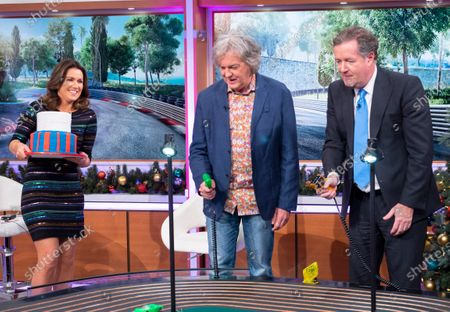 Piers Morgan and Susanna Reid with James May