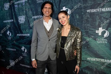 Stock Photo of Nevi Millan and Anna Trebunskaya