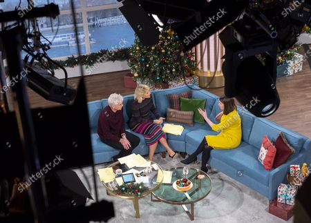 Phillip Schofield and Holly Willoughby with Jo Swinson