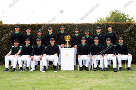 Stock Picture of (back L-R) Haotong Li of China, Cameron Smith of Australia, C.T. Pan of Taiwan, Joaquin Niemann of Chile, Assistant Captain Geoff Ogilvy of Australia, Adam Hadwin of Canada, Abraham Ancer of Mexico, Im Sung-jae of South Korea, Byeong-Hun An of South Korea, (front L-R) Louis Oosthuizen of South Africa, Assistant Captain Mike Weir of Canada, Assistant Captain K.J. Choi of South Korea, Captain Ernie Els of South Africa, Adam Scott of Australia, Assistant Captain Trevor Immelman of South Africa, Hideki Matsuyama of Japan and Marc Leishman of Australia pose for the International team photo