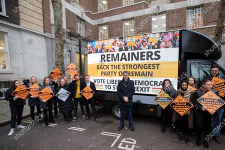 Editorial photo of Liberal Democrat General Election campaigning, London, UK - 10 Dec 2019