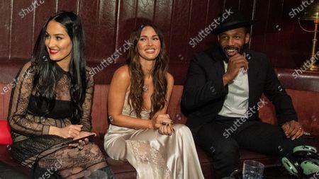 "Nikki Bella, Megan Fox and Stephen ""tWitch"" Boss"