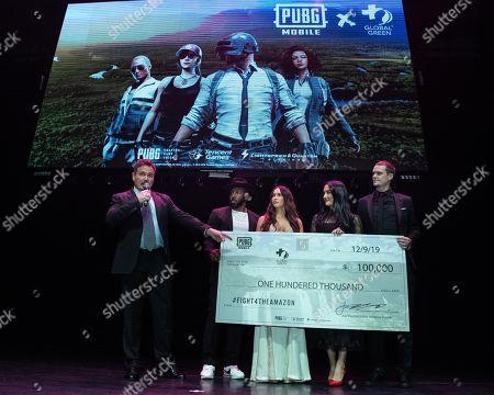 "Stock Image of William Bridge, Stephen ""tWitch"" Boss, Megan Fox, Nikki Bella and ""Pickles"" aka Jon Miears"