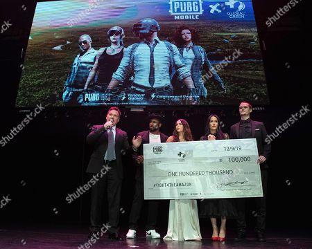 "Stock Photo of William Bridge, Stephen ""tWitch"" Boss, Megan Fox, Nikki Bella and ""Pickles"" aka Jon Miears"