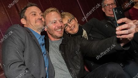 Stock Picture of Brian Austin Green, Ian Ziering and Gabrielle Carteris