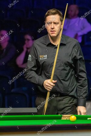 Stock Photo of Action from the first session on Day 2 between Ricky Walden Vs Luo Honghao during 19.com Scottish Open Snooker Championships at the Emirates Arena  Glasgow