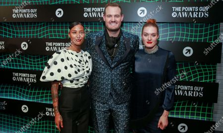 Stock Image of Aino Jawo and Caroline Hjelt of Icona Pop and Brian Kelly