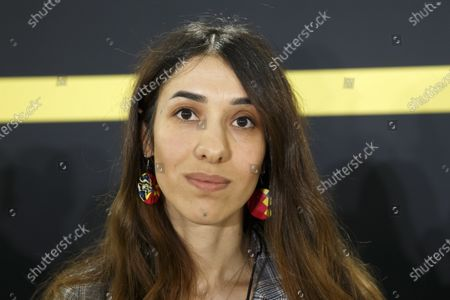 Nobel Peace Prize 2018 Nadia Murad poses for the photographer during the Young Activists Summit (YAS19) at the European headquarters of the United Nations (UNOG) in Geneva, Switzerland, 10 December 2019.