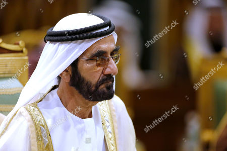 Stock Image of King Salman, Mohammed bin Salman. Prime Minister of the United Arab Emirates Sheikh Sheikh Mohammed bin Rashid Al Maktoum attends the 40th Gulf Cooperation Council Summit in Riyadh, Saudi Arabia