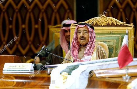 Kuwait's Emir Sheikh Sabah Al Ahmad Al Sabah attends the 40th Gulf Cooperation Council Summit in Riyadh, Saudi Arabia