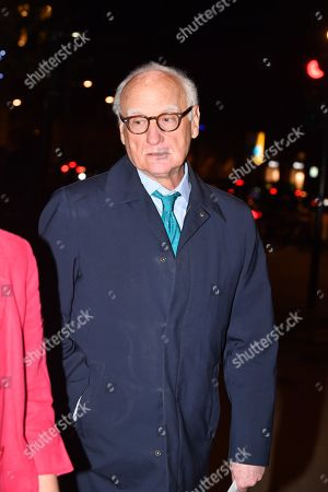 Bruce Buck Leaving Meal For Richard Scudamore Ceo Of Premier League At The German Gymnasium Kings Cross London.