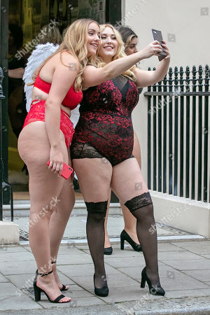 News - 'we're All Angels' Photocall Featuring Models Size 10-22 Wearing Lingerie By Simply Be ( Left To Right) Joann Van Den Herik And Hayley Hasselhoff.