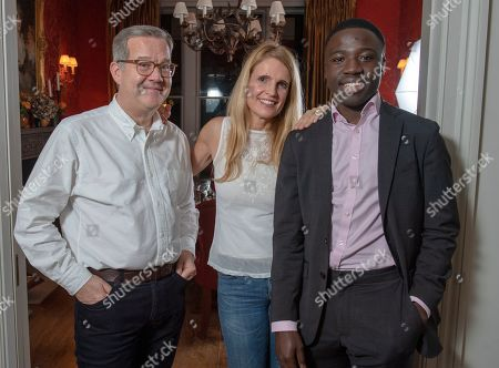 Stock Image of Reggie Nelson.  . 15. 11. 18 Quintin And Elizabeth Price With Reggie Nelson.  A Determined Reggie Door-knocked His Way To A Top Job In The City By Googling 'Richest Area In London' And Came Up With Gloucester Road In Kensington Then Went With A Prepared Speech To Ask The Residents How They Did It.  Words: Kathryn Knight. 15. 11. 18.