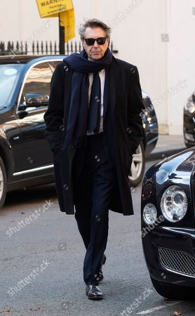 Bryan Ferry Attends The Memorial Service Of His Socialite / Model Ex-wife Lucy Birley (ferry) At Farm Street Church In Mayfair.  Lucy Birley Memorial Service .  . 14. 11. 18.