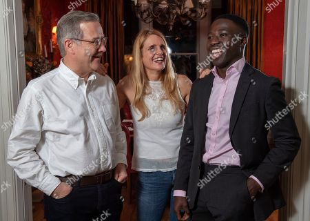 Editorial image of Reggie Nelson. Picture - Mark Large....15.11.18 Quintin And Elizabeth Price With Reggie Nelson. A Determined Reggie Door-knocked His Way To A Top Job In The City By Googling ¿¿richest Area In London¿¿ And Came Up With Gloucester Road In Kensington Th