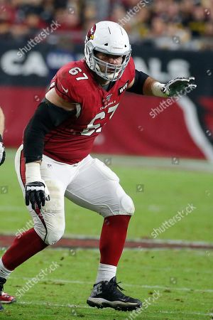 Arizona Cardinals offensive guard Justin Pugh (67) during an NFL football game against the Pittsburgh Steelers, in Glendale, Ariz