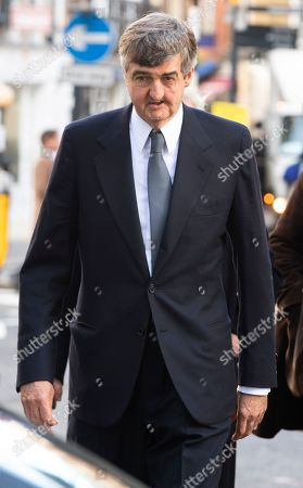 Stock Picture of Robin Birley Second Husband Of Lucy Birley Socialite/model At Her Memorial Service At Farm Street Church In Mayfair.  Lucy Birley Memorial Service .  . 14. 11. 18.