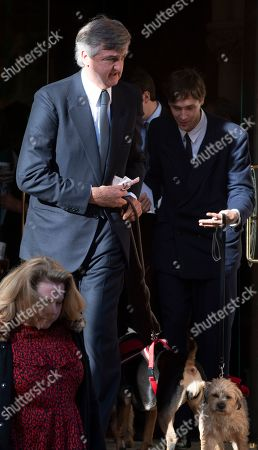 Stock Photo of Robin Birley Second Husband Of Lucy Birley Socialite/model At Her Memorial Service At Farm Street Church In Mayfair.  Lucy Birley Memorial Service .  . 14. 11. 18.